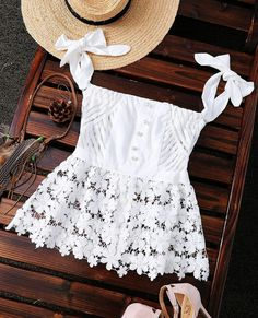 Off The Shoulder Lace Sheer Stripe Top (White) Look Fashion, Trendy Fashion, Fashion Outfits, Womens Fashion, Fashion Styles, Fashion Clothes, Essentiels Mode, Summer Outfits, Cute Outfits