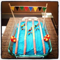Just made this cake for one of my bffs bday! (SHE IS A SWIM COACH) Hope she loves it!