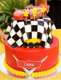 Cars cake my brothers loves it