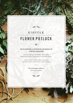 Kinfolk Flower Potluck in Ojai
