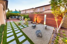 California Zen Rock Garden With Ipe Wood Water Feature | HGTV Ultimate Outdoor Awards >> http://www.hgtv.com/design/packages/hgtv-ultimate-outdoor-awards/2016/gorgeous-gardens/california-zen-rock-garden-with-ipe-wood-water-feature?soc=pinterest