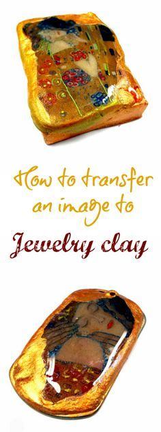 How to transfer an image to a jewelry clay pendant