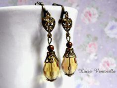 Romantische Ohrclips von Luisa Ventocilla Shop auf DaWanda.com