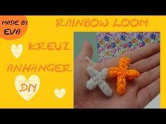 DIY Rainbow Loom charms: Kreuz selber machen, cruz, crux, croix, cross Anhänger Anleitung deutsch - YouTube