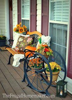 Pretty fall front porch.