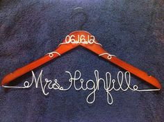 Personalized Wedding Hangers $20.00