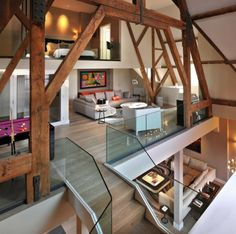 Das renovierte Penthouse in St Pancras Chambers kombiniert modernes und klassisches Design - http://wohnideenn.de/innendesign/07/das-renovierte-penthouse.html #Innendesign