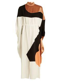 Enga drawstring-waist silk midi dress | Roksanda | MATCHESFASHION.COM UK