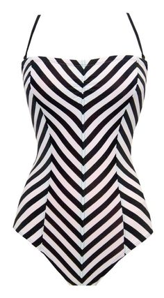Chevron bathing suit