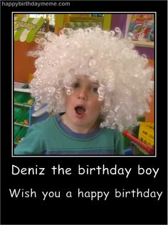 Cuty Pie :-) Happy Birthday Meme, Birthday Boys, Funny Happy, Pie, Memes, Torte, Cake, Fruit Cakes, Meme