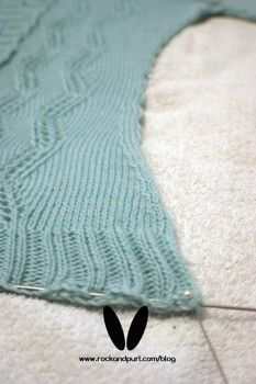 GREAT blog post on how to properly block a knitted garment! <3