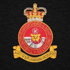 Kings Shropshire Light Infantry Blazer Badge