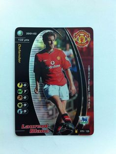 Wizards 2001-02 079/125 Manchester United Laurent Blanc Shiny Trading Card
