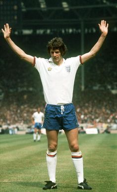 circa 1977 Mike Channon England who won 46 international caps between 19731978