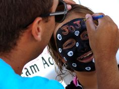Face painting is one of the many activities at hotel BLUE and Captain's Quarters for kids!