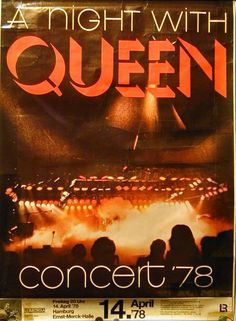 Tour Posters, Band Posters, Freddie Mercury, Concert Flyer, Concert Tickets, Queen Poster, Vintage Concert Posters, Queen Love, Queen Birthday
