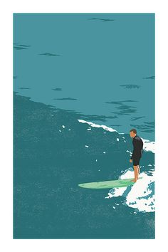 Surf Rider - Screen Print on Etsy, $40.00