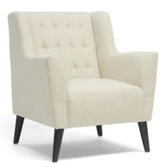 Baxton Studio Berwick Beige Linen Arm Chair - 15130037 - Overstock - Great Deals on Baxton Studio Living Room Chairs - Mobile