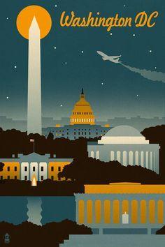 washington nats poster design - Google Search