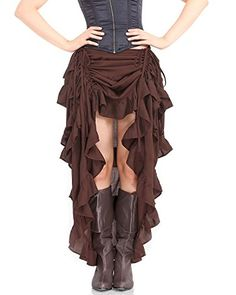 Steampunk-Victorian-Gothic-Womens-Costume-Show-Girl-Skirt-0