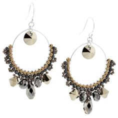 a very flirty pair of earrings you can learn to make at fusionbeads.com    I am a sucker for hoops!