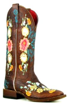 Green Tony Mora - bone star- Ladies Fashion Cowboy Boots | Tony