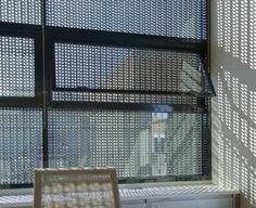 Black aluminum perforated mesh used as window screen