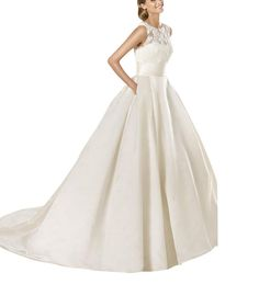 GEORGE BRIDE Tulle With Chantilly Lace And Royal Satin Ball Gown With Beaded Details And Pockets Price: $689.00 Sale: $198.00