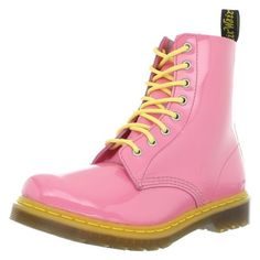 Dr. Martens Women's Pascal Boot,Acid Pink/Acid Yellow Patent,4 UK/6 M... ($208) ❤ liked on Polyvore featuring shoes, boots, yellow boots, yellow patent shoes, pink patent leather boots, pink patent shoes and dr martens boots