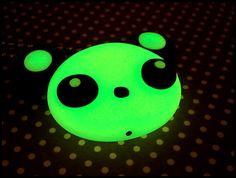 Glowing Panda Necklace by grandmathunderpants on Etsy, $10.00