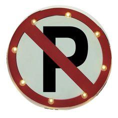 """Metal Led """"No Parking"""" Sign"""