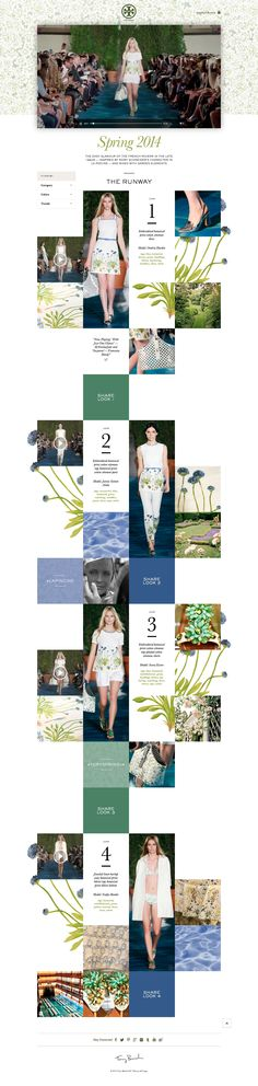 Tory Burch Spring 2014 Runway Show \\ Nice grid. http://runway.toryburch.com #timeline