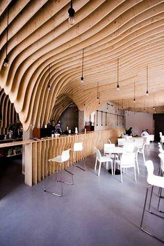 Zmianatematu Cafetaria XM3 04 furnime » Artistic Cafe Interior Designs: Zmianatematu Coffee Shop by XM3