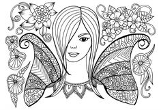 Let the love shine in with this advanced free fairy coloring page! There are seventeen pages to choose from in this coloring collection, and they are all sure to help you relax and work your way into the holiday of love. Fairy Coloring Pages, Printable Coloring Pages, Adult Coloring Pages, Coloring Books, Face Doodles, Girl Friendship, Coloring Pages For Kids, Kids Coloring, Colouring