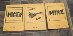 Cool Monkees FlipBook Lot 1960s Vintage Cereal Premium  Currently available from Ecrater.com seller - Nuclear Jackalope.