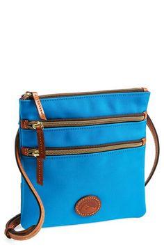 Keep it all organized! Dooney & Bourke Triple Zip Nylon Crossbody Bag available at #Nordstrom