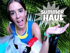 Summer Haul #summer #shopping #outfits #girl #teen #stores #haul #clothes #skirt #heels #dress #top #sandals #style #ootd #ootw