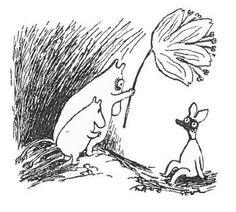 Moomintroll & Moominmamma illuminate a little creature with a tulip lamp. Moomin Valley, Tove Jansson, Big Love, Little My, Women In History, Graphic Illustration, Illustrations, Troll, Tatoos