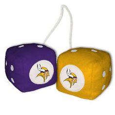 Minnesota Vikings Fuzzy Dice