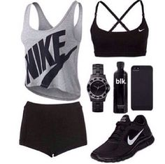 Everything you need for you workout. #Nike #workout #OOTD