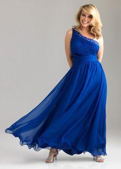 Plus Size Blue Evening Dresses