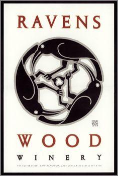 David Lance Goines design, 1979....love their wine...especially the Old Vine Red Zin