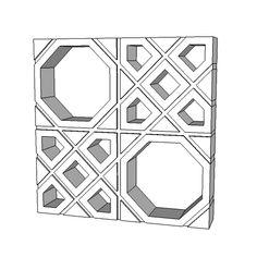 Cobogó neo rex palhinha - elemento vazado - 3D Warehouse