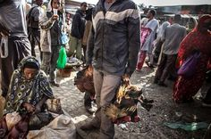 A chicken seller Photo by Cesar Suarez -- National Geographic Your Shot