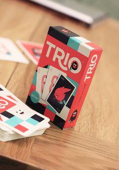 Trio Card Game Packaging