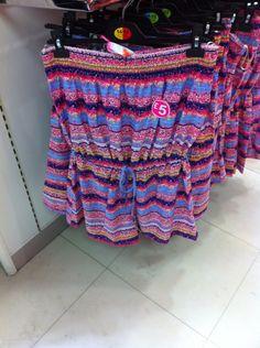 Primark! Non strap multi coloured onesie summer thing!