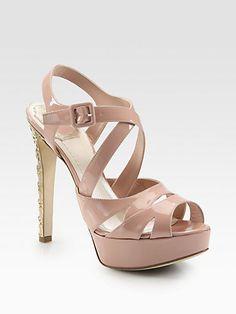 Dior - Patent Leather Platform Sandals - Saks.com