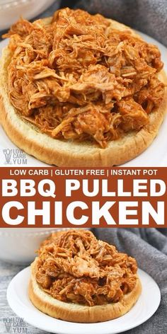 BBQ Pulled Chicken Slow Cooker or Instant Pot BBQ Pulled Chicken Slow Cooker or Instant Pot Low Carb Yum lowcarbyum Low Carb Keto Video Recipes from LowCarbYum This nbsp hellip sauteed videos Healthy Low Carb Dinners, Best Low Carb Recipes, Low Carb Dinner Recipes, Healthy Crockpot Recipes, Paleo Dinner, Meal Recipes, Salad Recipes, Pulled Chicken Recipes, Pulled Chicken Sandwiches
