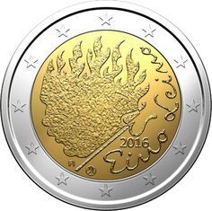 Finlandia 2016 90 años muerte de Eino Leino Canadian Coins, Euro Coins, Valuable Coins, Coins Worth Money, Tove Jansson, Coin Worth, Gold And Silver Coins, World Coins, Banknote