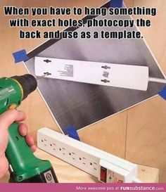 Life hack for drilling things